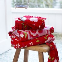 Pip Studio Birds In Paradise Towel Red