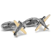 Paul Smith Gold Tone And Silver Tone Aeroplane Cufflinks Gold