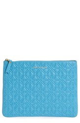 Comme Des Garcons Large Embossed Leather Pouch