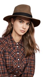 Janessa Leone Luca Packable Hat Camel