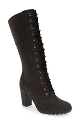 Timberland Women's 'Glancy 10 Inch' Lace Up Boot Black Nubuck Leather