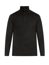 Mover Half Zip Merino Wool Base Layer Top Black