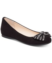 Jessica Simpson Movey Embellished Bow Ballet Flats Women's Shoes Black