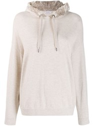 Brunello Cucinelli Hooded Jumper Neutrals