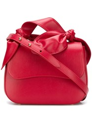 Simone Rocha Knotted Leather Bag Red