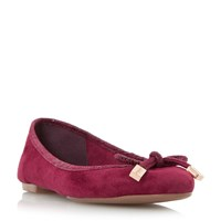 Dune Hero Bow Detail Ballerina Pumps Berry