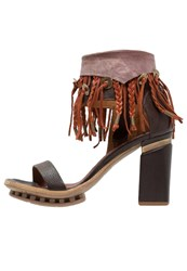A.S.98 Calmora High Heeled Sandals Choco Dark Brown