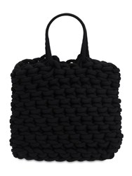 Alienina Ada Rope Cotton Shopping Bag Black