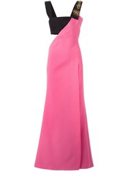 Fausto Puglisi Two Tone Evening Dress Pink And Purple