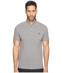 The Kooples Officer Collar Polo With Contrasting Trim Vintage Grey Cassis Men's T Shirt Gray