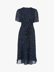 Lk Bennett L.K.Bennett Eve Tie Waist Spot Dress Midnight