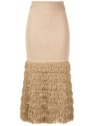 Alice Mccall Tiered Fringe Skirt 60