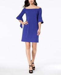 Thalia Sodi Off The Shoulder Shift Dress Created For Macy's Royal Blueberry