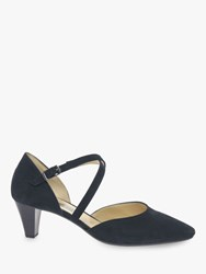 Gabor Callow Cross Strap Court Shoes Pacific