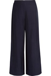 Acne Studios Tennessee Striped Twill Wide Leg Pants Midnight Blue