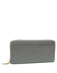 Tusk Madison Leather Gusset Clutch Grey
