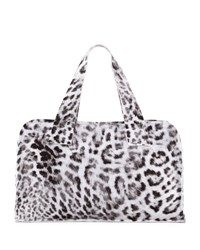 Norma Kamali Animal Print Rectangle Bag White Pattern