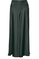 The Row Afrol Hammered Satin Maxi Skirt