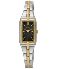 Seiko Women's Solar Two Tone Stainless Steel Bracelet Watch 15Mm Sup274
