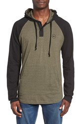 O'neill Men's 'The Bay' Henley Hoodie Olive