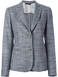 Tonello Plaid Blazer Black