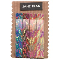 Jane Tran Leaf Hair Slides Pack Of 8 Neon