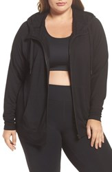 Zella Plus Size Women's Well Played Zip Fleece Hoodie Black