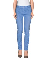 Care Label Denim Denim Trousers Women Pastel Blue