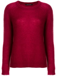 Luisa Cerano Long Sleeve Fitted Sweater Red