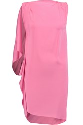 Vionnet Draped Stretch Silk Tunic Pink