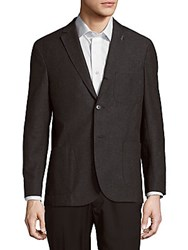 Michael Bastian Wool And Cotton Blend Jacket Charcoal