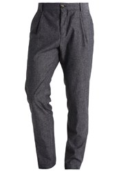 Bertoni Hjelm Suit Trousers Salt And Pepper Mottled Anthracite
