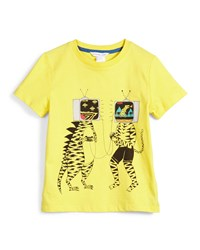 Little Marc Jacobs Short Sleeve Tv Head Jersey Tee Yellow