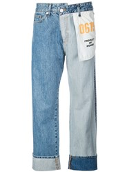 Monse Straight Leg Inside Out Jeans Blue