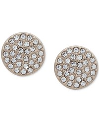 Dkny Pave Disc Stud Earrings Gold