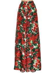 Dolce And Gabbana Printed Silk Twill Palazzo Pants Multicolor