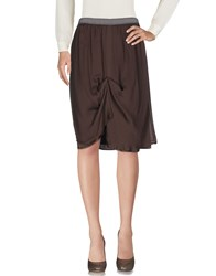 Ego E Go Knee Length Skirts Cocoa