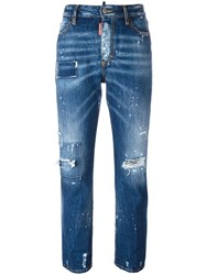 Dsquared2 Los Angeles Cropped Jeans Blue