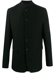 Masnada Single Breasted Fitted Blazer Black