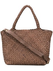 Officine Creative Woven Tote Bag Brown