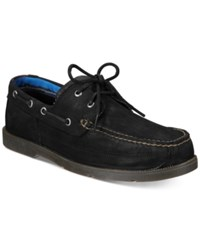 Timberland Men's Piper Cove Leather Boat Shoes Men's Shoes Jet Black