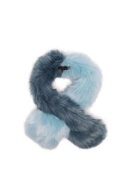 Charlotte Simone Polly Pop Faux Fur Scarf Blue
