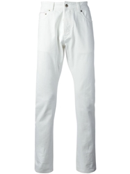 Officine Generale Straight Leg Jeans White