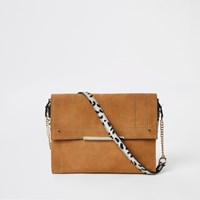 River Island Beige Leather Animal Print Under Arm Bag