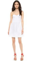 Juicy Couture Punched Eyelet Dress White