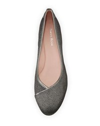 Taryn Rose Felicity Stretch Fabric Low Wedge Shoe Pewter