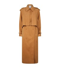 Stella Mccartney Cecile Faux Suede Trench Coat Female Brown