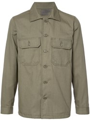 Naked And Famous Military Style Shirt Green