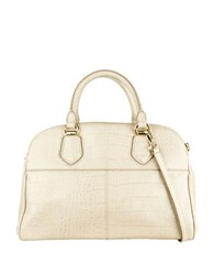 Cole Haan Tali Leather Satchel Taupe