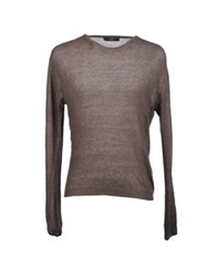Fdn Crewneck Sweaters Dark Brown